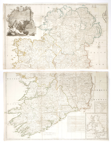 Map Of Ireland 32.Circa 1760 Map Of Ireland By John Rocque At Whyte S Auctions