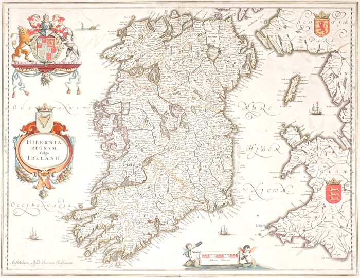 1646 Map of Ireland, by Joannes Jansson. at Whyte's Auctions