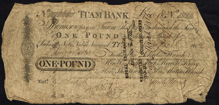 Tuam Bank One Pound, 1812 at Whyte's Auctions   Whyte's - Irish Art