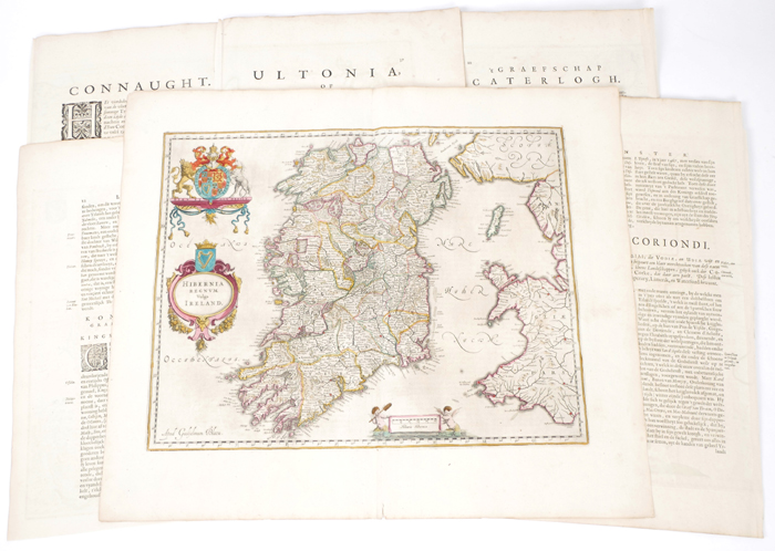 1654 Maps of Ireland by Joan Blaeu, from Theatrum or Novus Atlas. at Whyte's Auctions