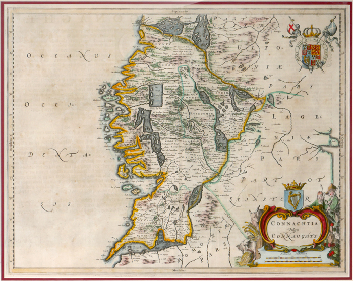 1654 Map of Connaught by Joan Bleau. at Whyte's Auctions