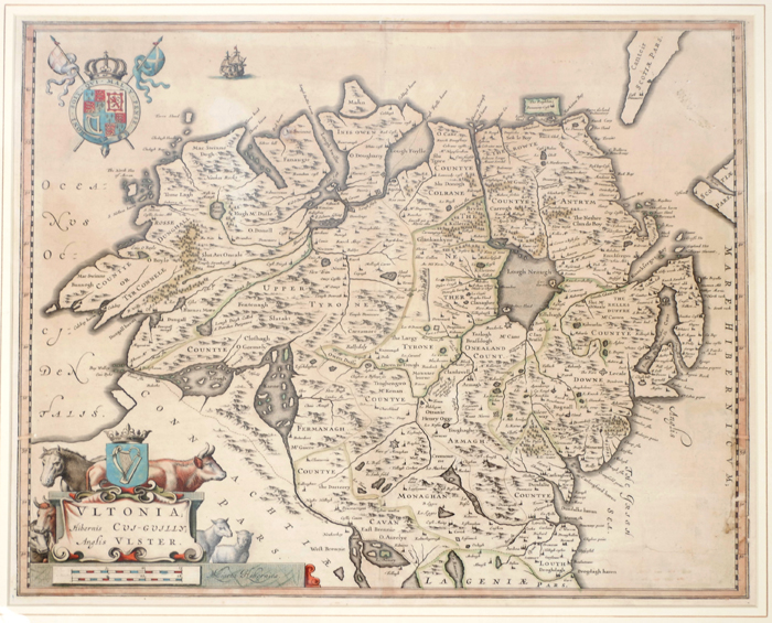 1654 Map of Ulster, by Joan Blaeu. at Whyte's Auctions