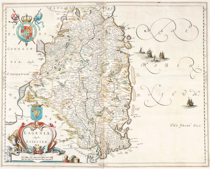 1654 Map of Leinster by Joan Blaeu. at Whyte's Auctions