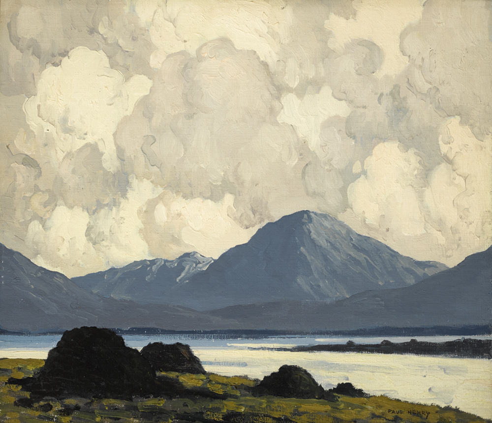 LOUGH ALTAN, COUNTY DONEGAL, c.1934-38 by Paul Henry sold for €58,000 at Whyte's Auctions