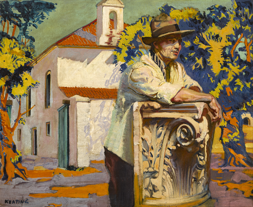REST AFTER TOIL, 1924 by Seán Keating sold for €26,000 at Whyte's Auctions