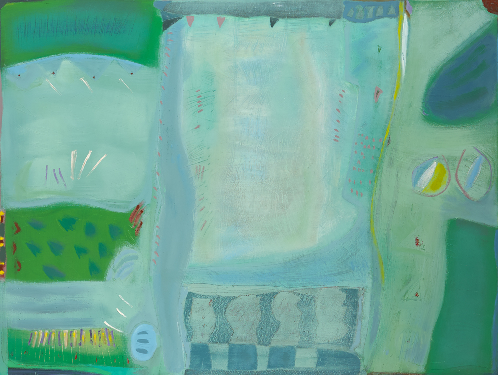SUMMER INSCAPE, CALLAN, COUNTY KILKENNY, 1981 by Tony O'Malley sold for �17,000 at Whyte's Auctions