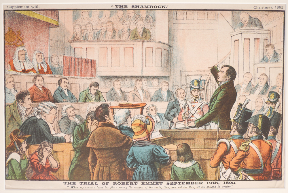 The Trial of Robert Emmet and End of the Irish Invasion, prints. at Whyte's Auctions