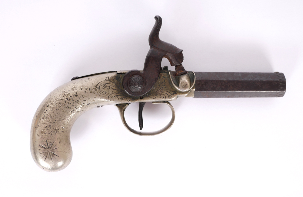 An early 19th century percussion pocket pistol. at Whyte's Auctions