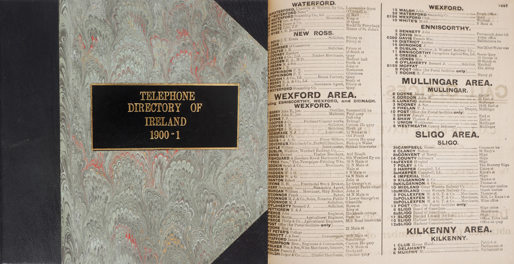 1900-01 Telephone Directory of Ireland  at Whyte's Auctions