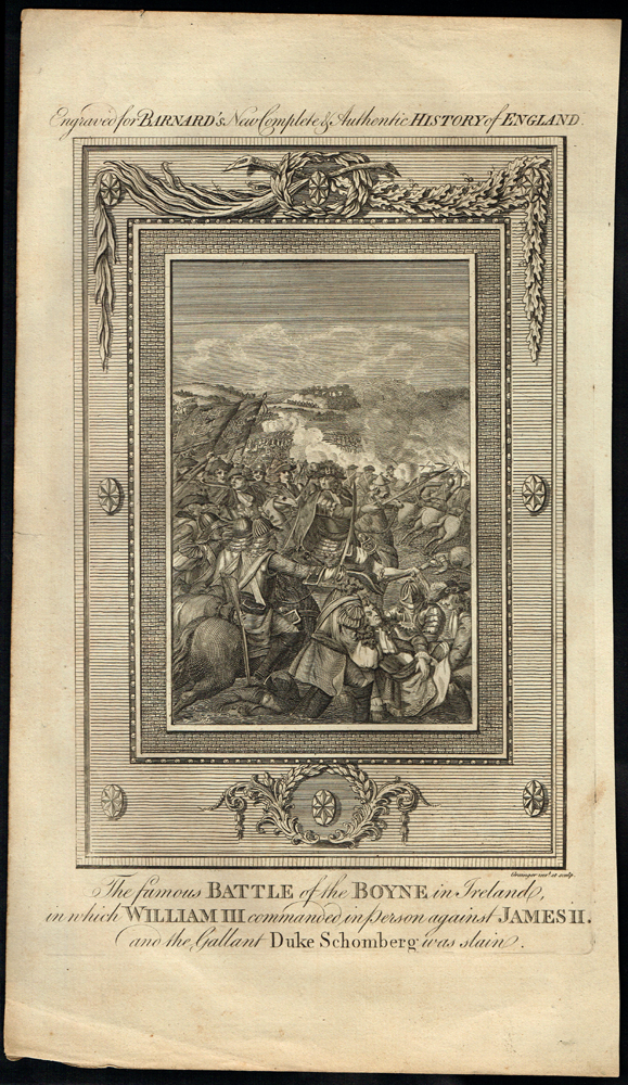 1690 The Famous Battle of the Boyne, an 18th century engraving. at Whyte's Auctions