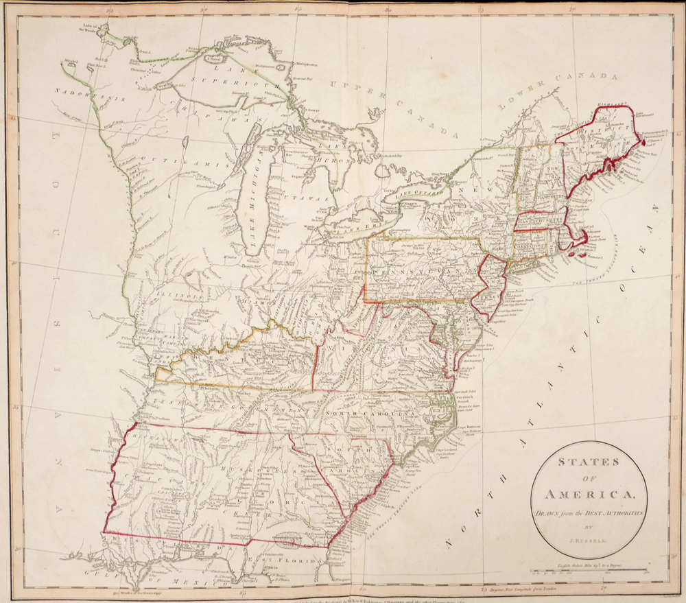 Map Of America Mississippi River.1811 Maps Of North America And The States Of America East Of The