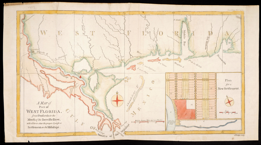 18th And 19th Century Maps Of North America West Florida
