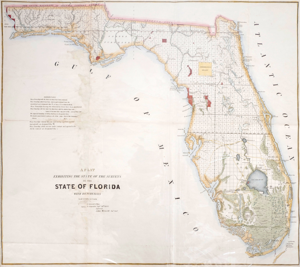 Map Of Texas And Florida.19th Century Maps Of North America Florida Texas And Boston At