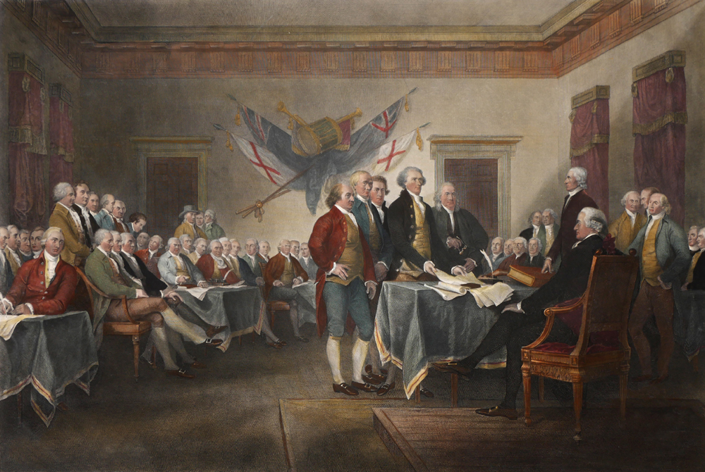 1820, Signing of the American Declaration of Independence July 4th 1776. at Whyte's Auctions