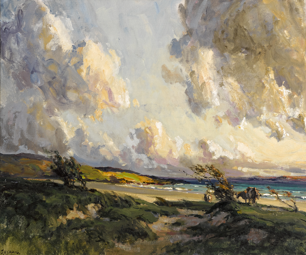 COASTAL SCENE, COUNTY DONEGAL by James Humbert Craig RHA RUA (1877-1944) at Whyte's Auctions