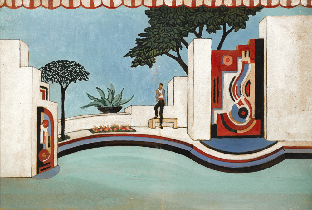 DESIGN FOR 'THE ROOF GARDEN', c.1938-1939 by Mainie Jellett sold for �5,000 at Whyte's Auctions