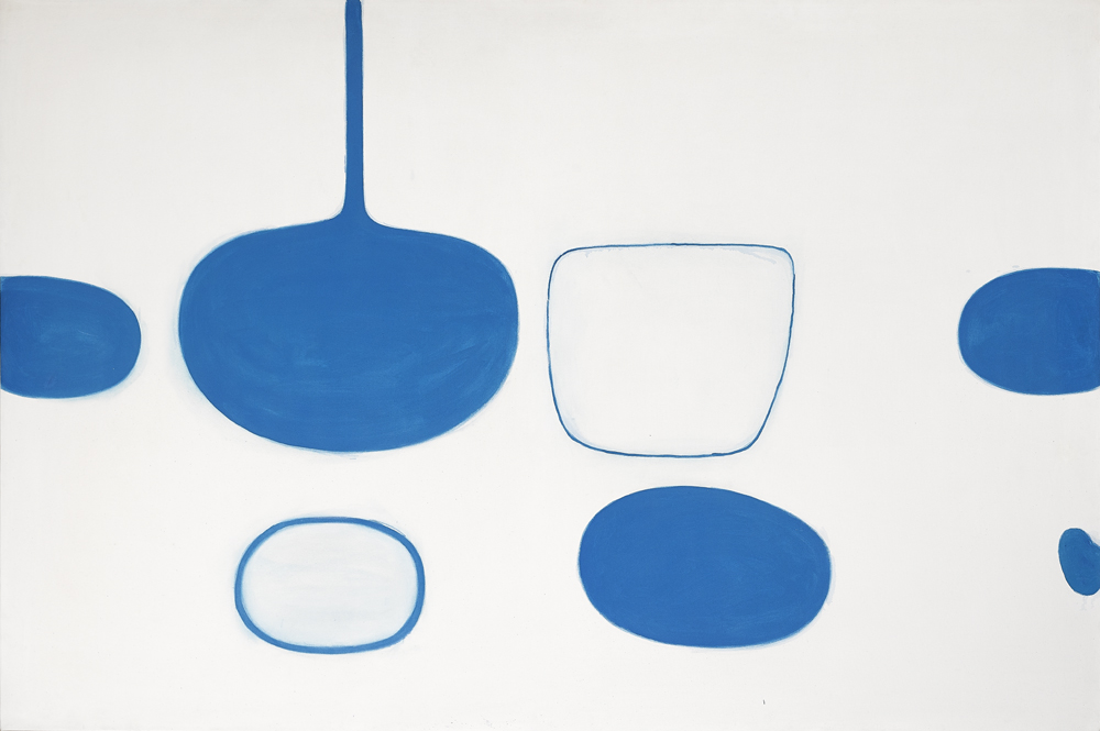 BLUE STILL LIFE, 1969-1970 by William Scott sold for �450,000 at Whyte's Auctions