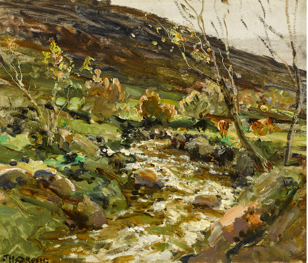 CATTLE BY A MOUNTAIN STREAM by James Humbert Craig RHA RUA (1877-1944) at Whyte's Auctions