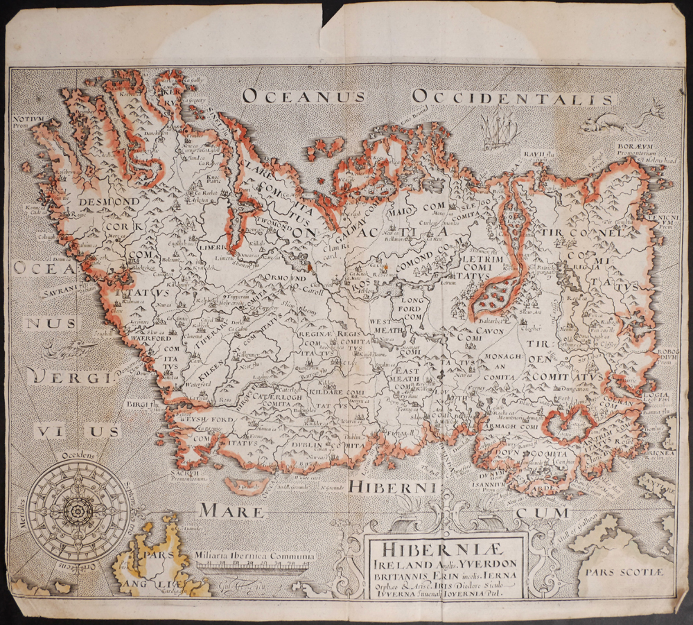 Map Of Ireland Book.1607 1800 Collection Of Eight Early Printed Maps Of Ireland And The