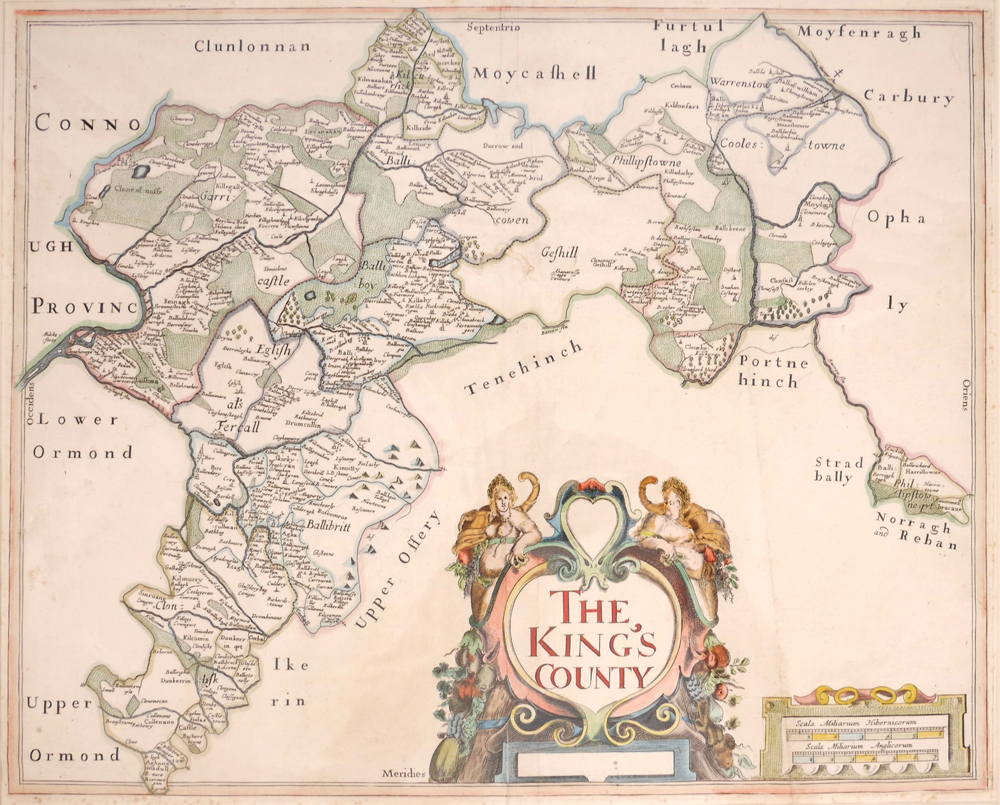 1685 Map of Offaly by Sir William Petty. at Whyte's Auctions