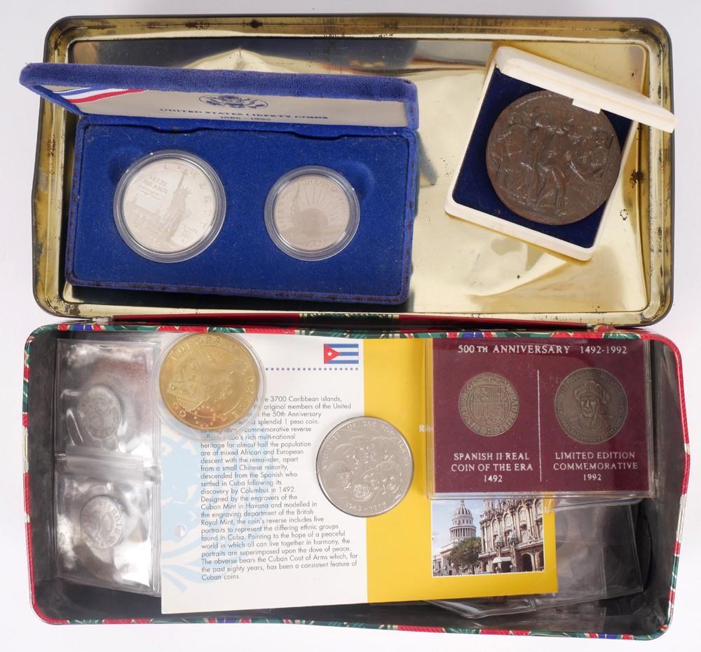 fa87c70684 Mixed lot of coins in a tin. at Whyte s Auctions