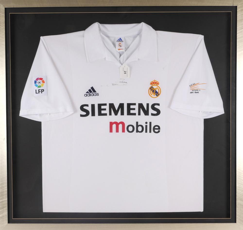 4cc0e9875 Football. Real Madrid shirt signed by Zinedine Zidane at Whyte s ...