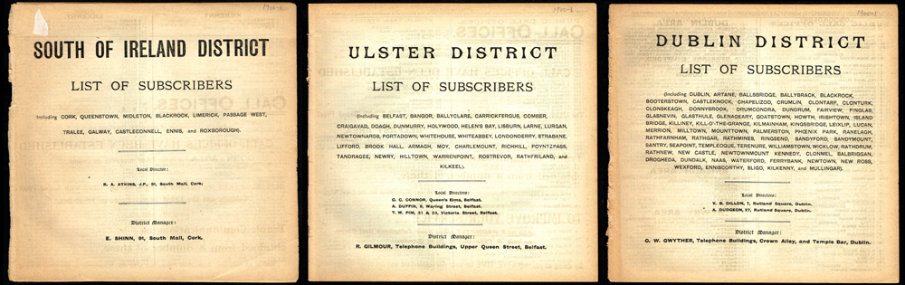 1900-1901 Telephone Directory of Ireland  at Whyte's Auctions