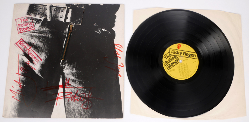 Rolling Stones, Sticky Fingers, signed album  at Whyte's