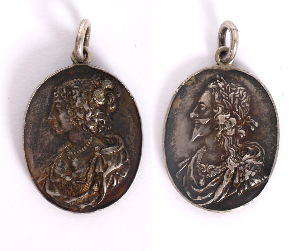 1643-1648 Charles I silver Royalist badge. at Whyte's Auctions