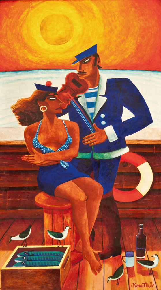 SAILOR AND GIRL by Graham Knuttel sold for �5,400 at Whyte's Auctions