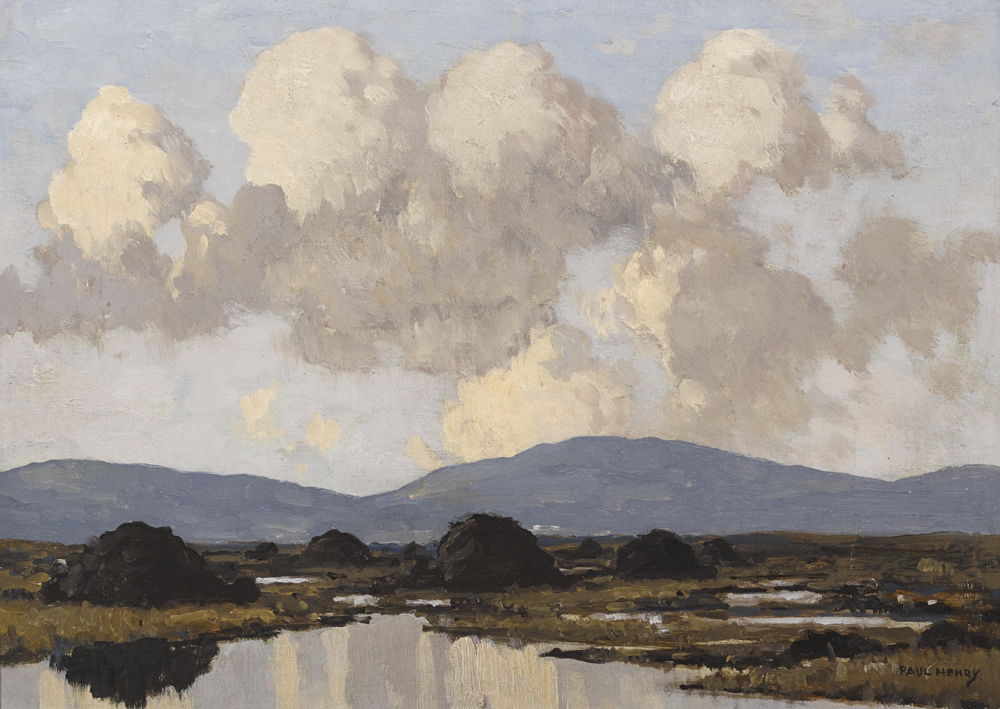 WEST OF IRELAND BOG by Paul Henry sold for €100,000 at Whyte's Auctions