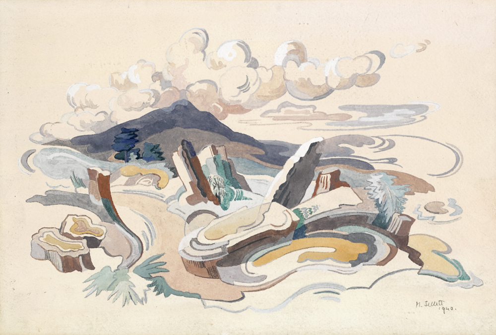 WESTERN LANDSCAPE STUDY, 1940 by Mainie Jellett sold for �3,500 at Whyte's Auctions