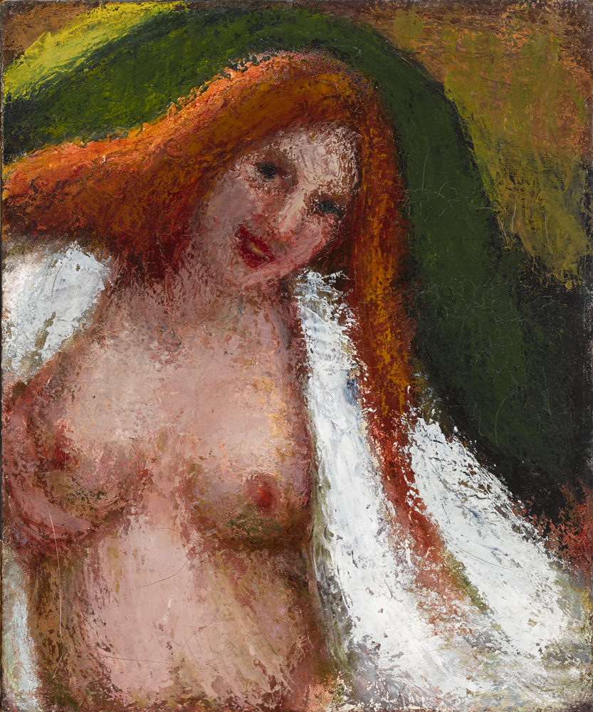 NUDE BATHING [GIRL BATHING] c.1897-1898 by Roderic O'Conor sold for �12,000 at Whyte's Auctions