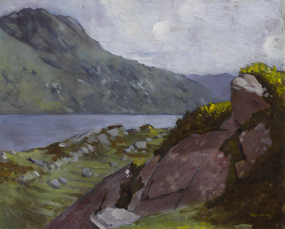 MOUNTAINOUS LANDSCAPE, WEST OF IRELAND, 1913-1914 by Paul Henry RHA (1876-1958) at Whyte's Auctions
