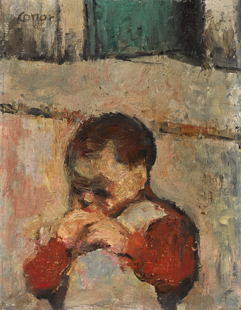 CHILD EATING BREAD by William Conor OBE RHA RUA ROI (1881-1968) at Whyte's Auctions