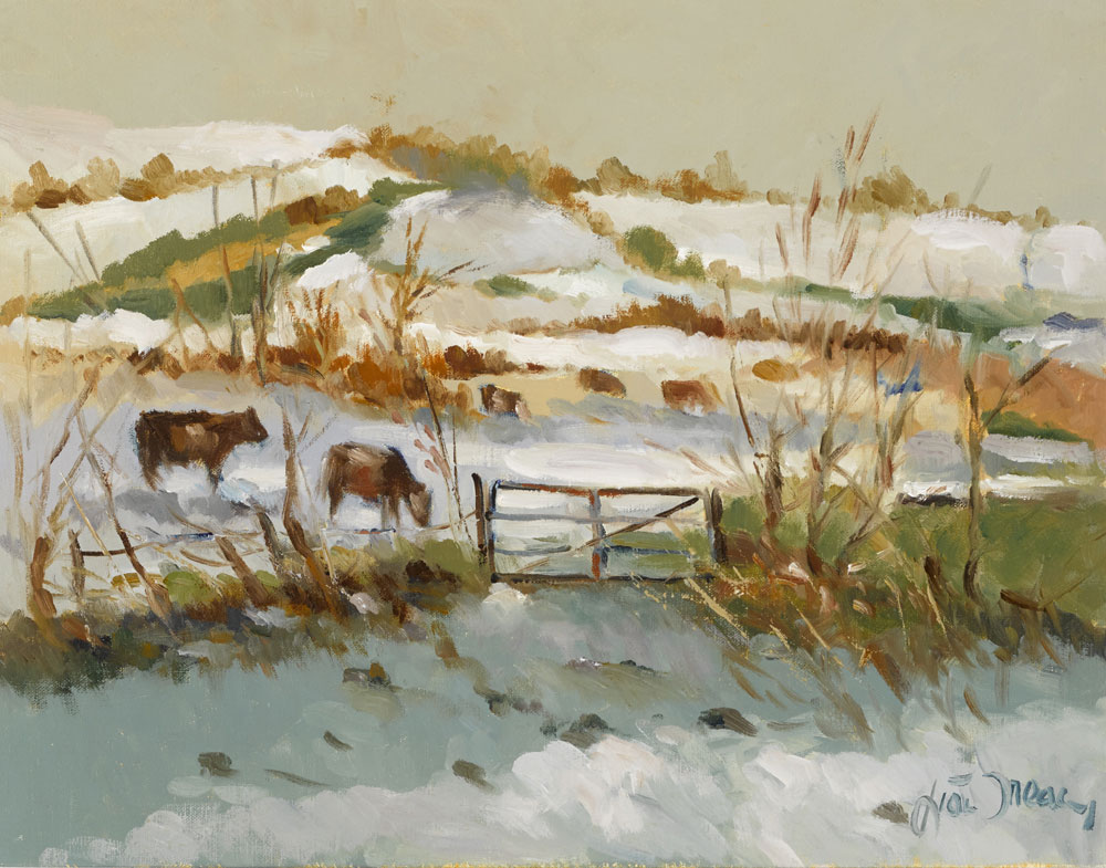 CATTLE IN WINTER by Liam Treacy (1934-2004) at Whyte's Auctions