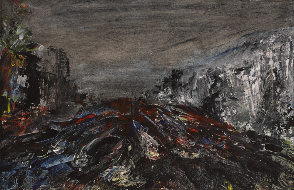THE DODDER IN FLOOD, BALLSBRIDGE, DUBLIN, 1929 by Jack Butler Yeats RHA (1871-1957) RHA (1871-1957) at Whyte's Auctions