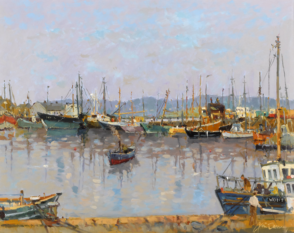 ARKLOW HARBOUR, COUNTY WICKLOW by Liam Treacy (1934-2004) at Whyte's Auctions