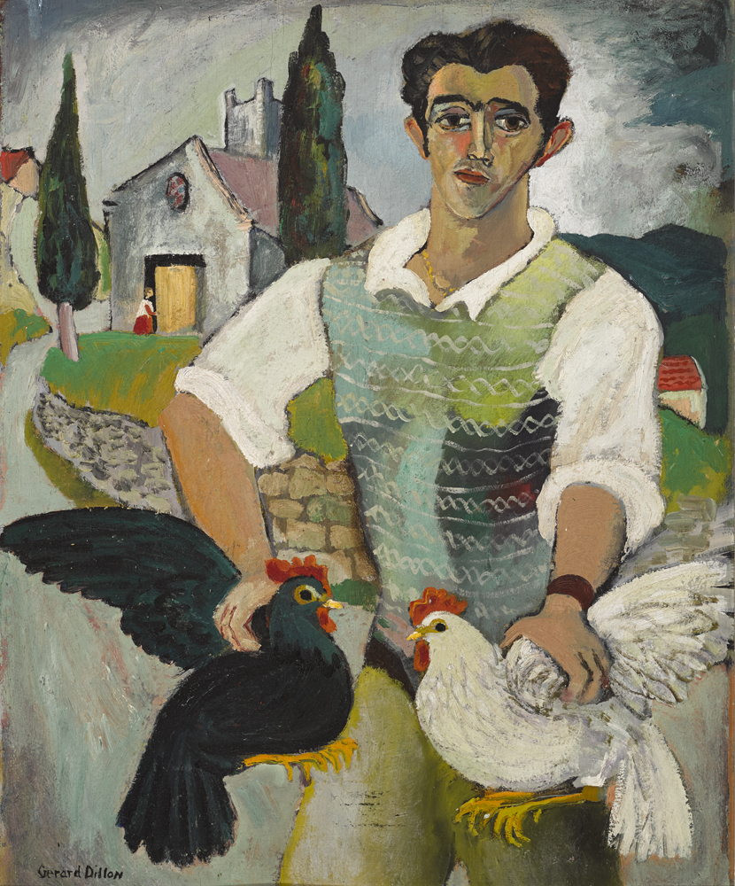 ITALIAN WITH FOWL, 1948 by Gerard Dillon sold for €48,000 at Whyte's Auctions
