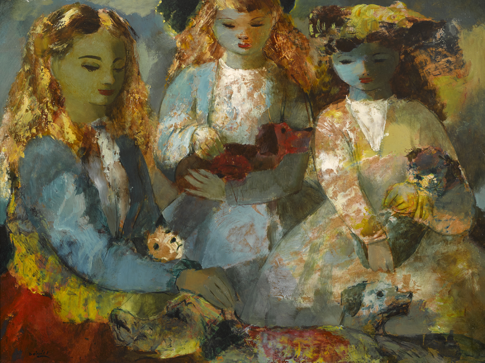 GIRLS AND DOGS by Daniel O'Neill (1920-1974) at Whyte's Auctions