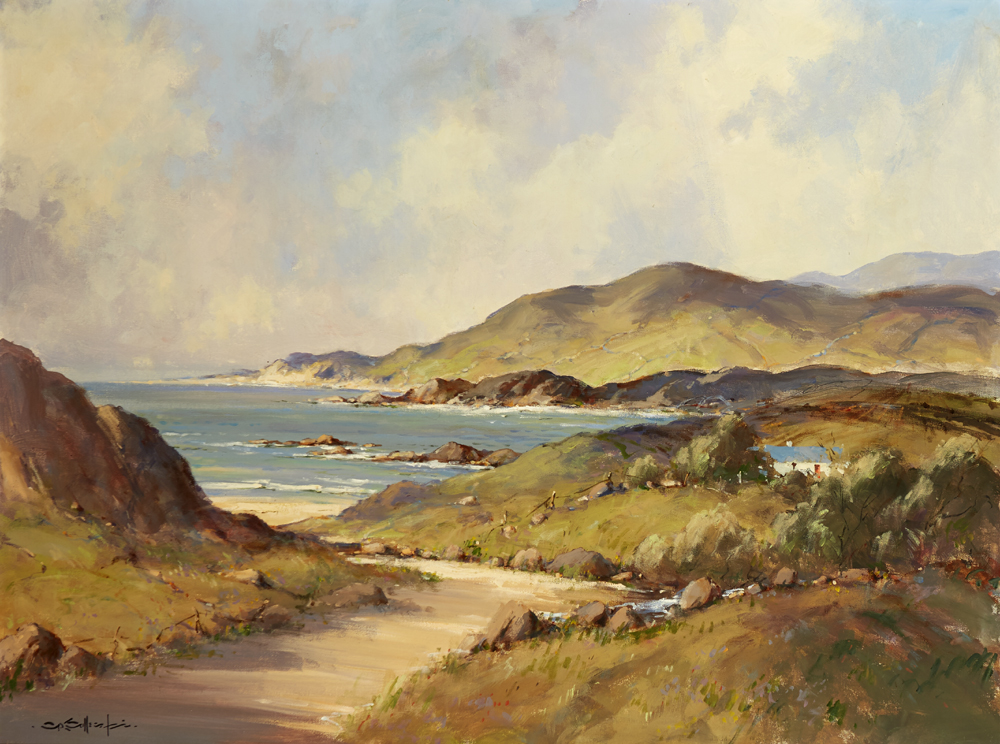 NEAR DUNFANAGHY, COUNTY DONEGAL by George K. Gillespie RUA (1924-1995) at Whyte's Auctions