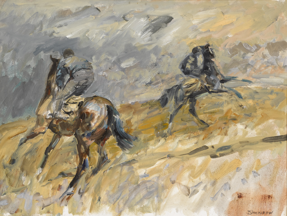 HORSES EXERCISING by Basil Blackshaw HRHA RUA (1932-2016) HRHA RUA (1932-2016) at Whyte's Auctions