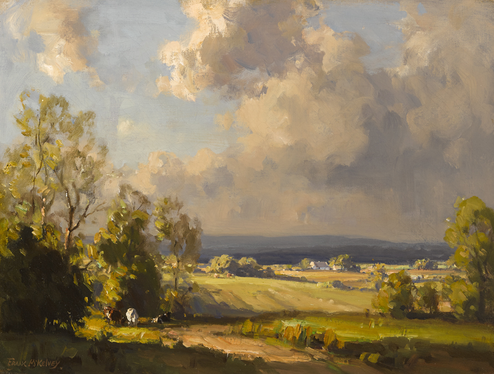 COUNTY DOWN LANDSCAPE by Frank McKelvey RHA RUA (1895-1974) at Whyte's Auctions
