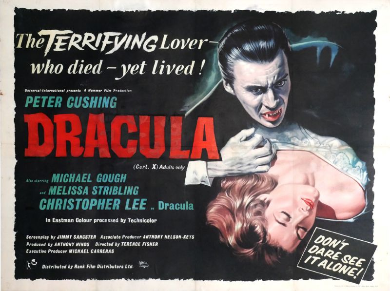 1958 Cinema poster for Dracula. at Whyte's Auctions