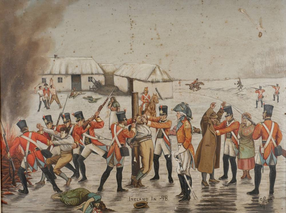 Ireland in '98, artist's impression of the aftermath of the rebellion. at Whyte's Auctions