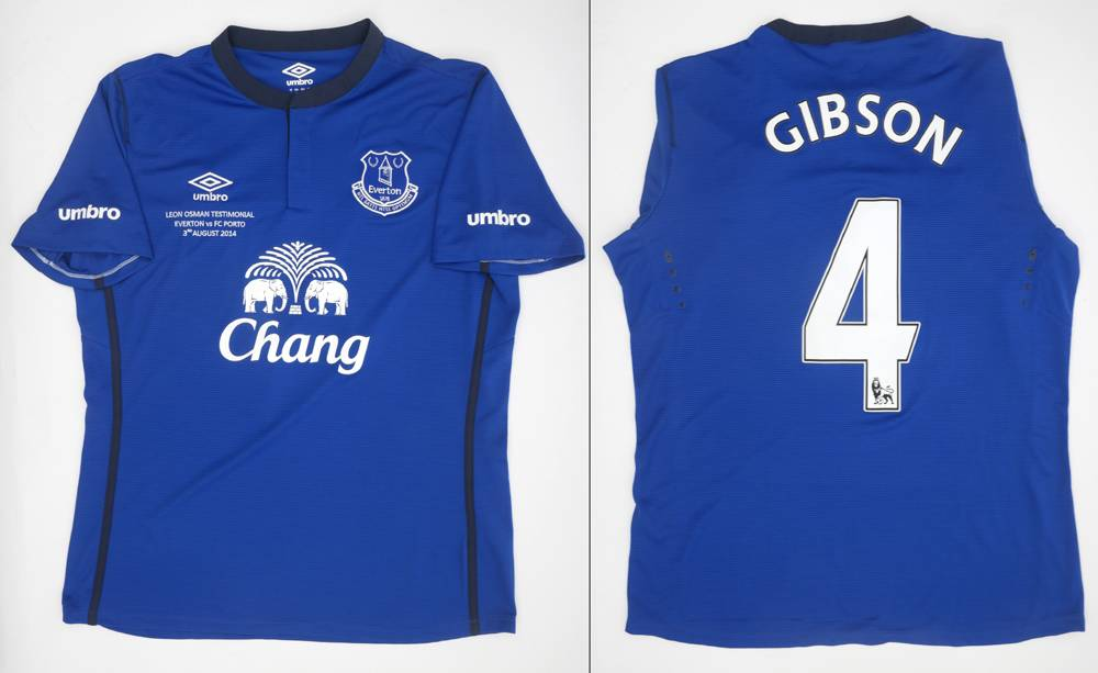 the best attitude 086e7 b77e4 Everton Testimonial jersey issued to Darron Gibson. at ...