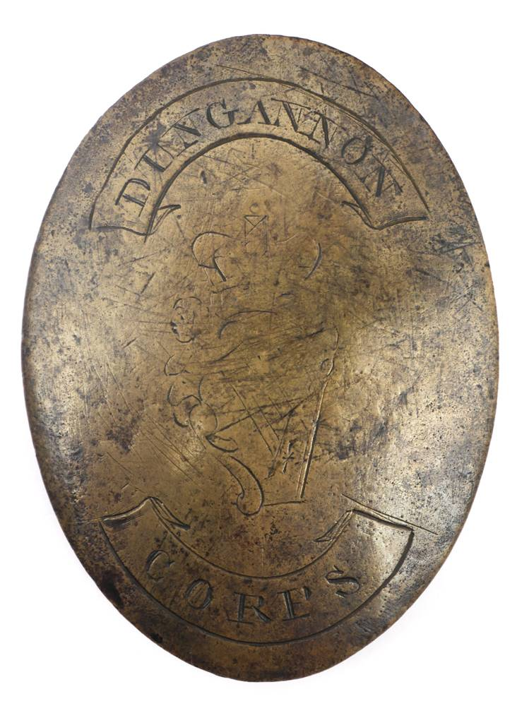 George III, Dungannon Corps cross belt plate. at Whyte's Auctions
