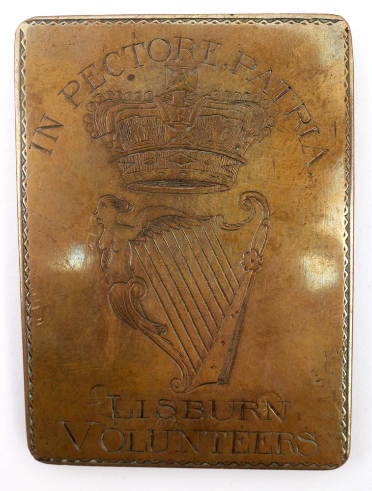 Lisburn Volunteers cross belt plate. at Whyte's Auctions
