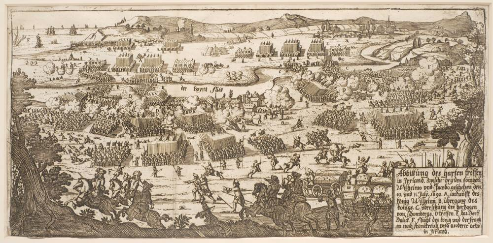 Battle of the Boyne and the Siege of Londonderry, early 18th century engravings. at Whyte's Auctions