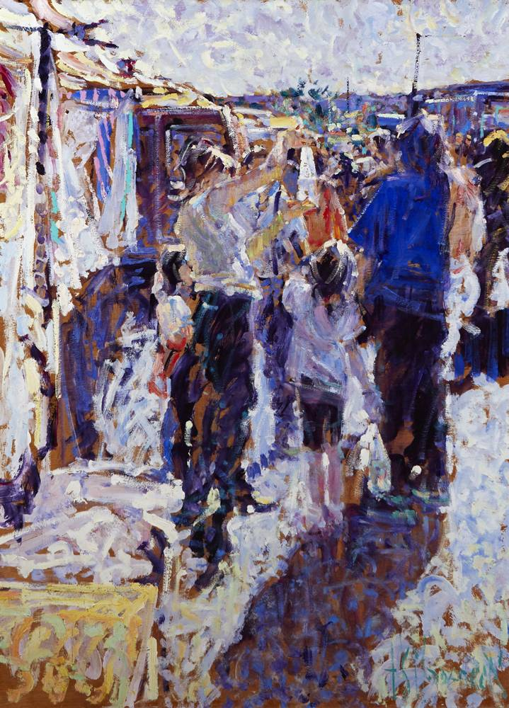 FOUR SECONDS OF ATTENTION, TALLOW HORSE FAIR, COUNTY WATERFORD by Arthur K. Maderson (b.1942) at Whyte's Auctions